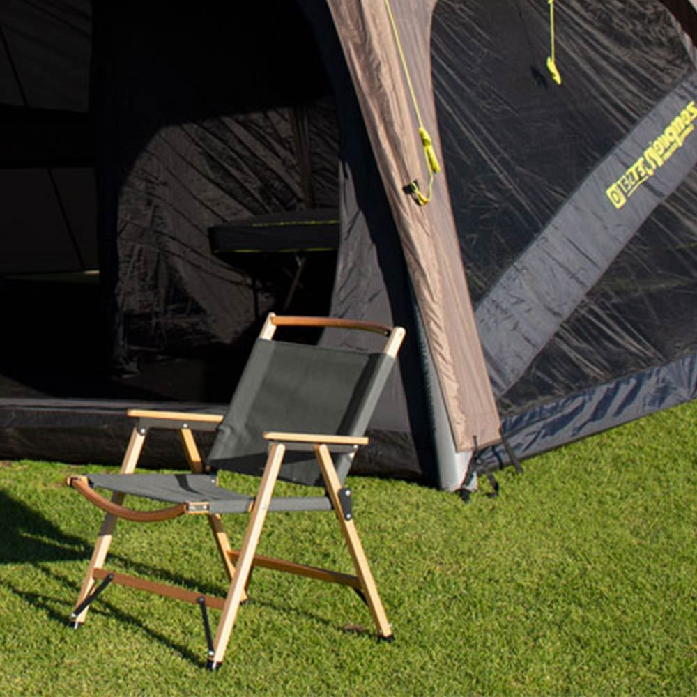 Zempire Roco Low Rider Chair Next To Tent