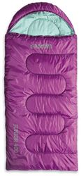 Roman Junior 400 Kids Sleeping Bag Purple Aqua