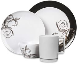 Campfire 16 Piece Melamine Dinner Set - French Swirl