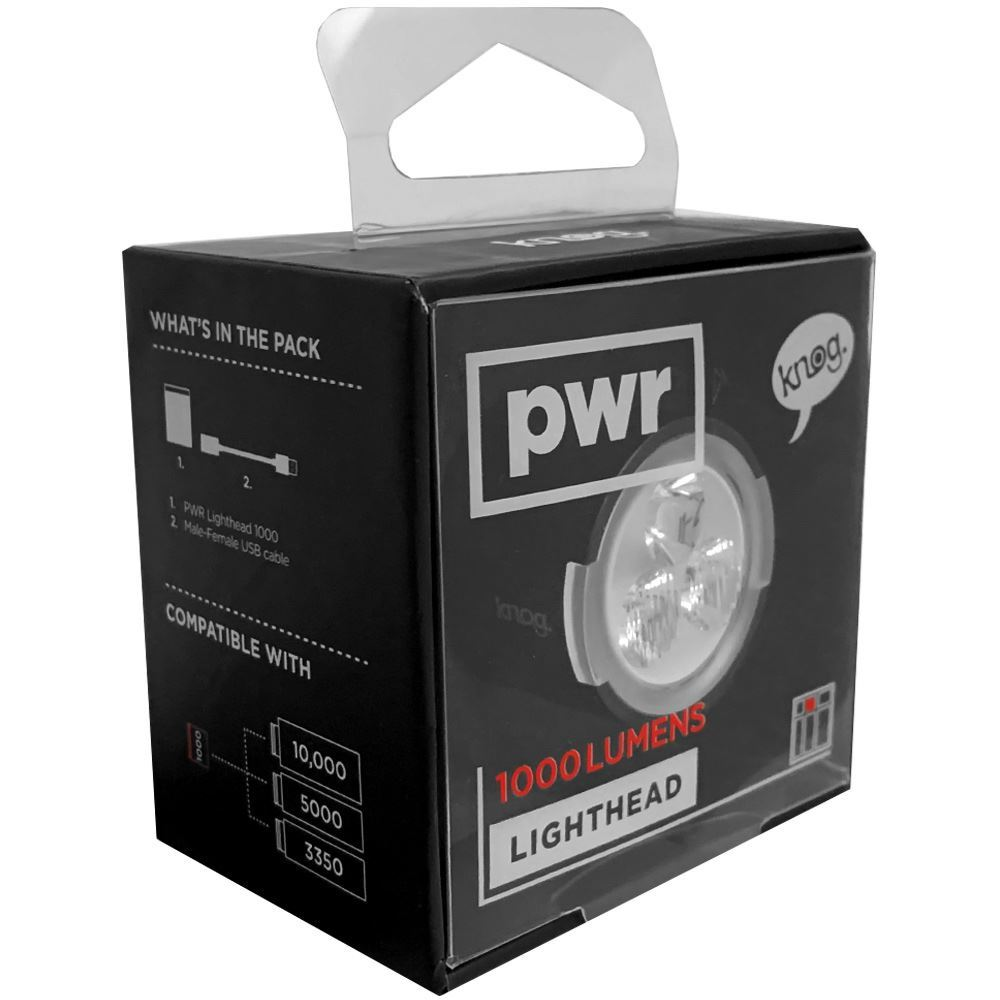 Knog PWR Lighthead 1000L - Packaging