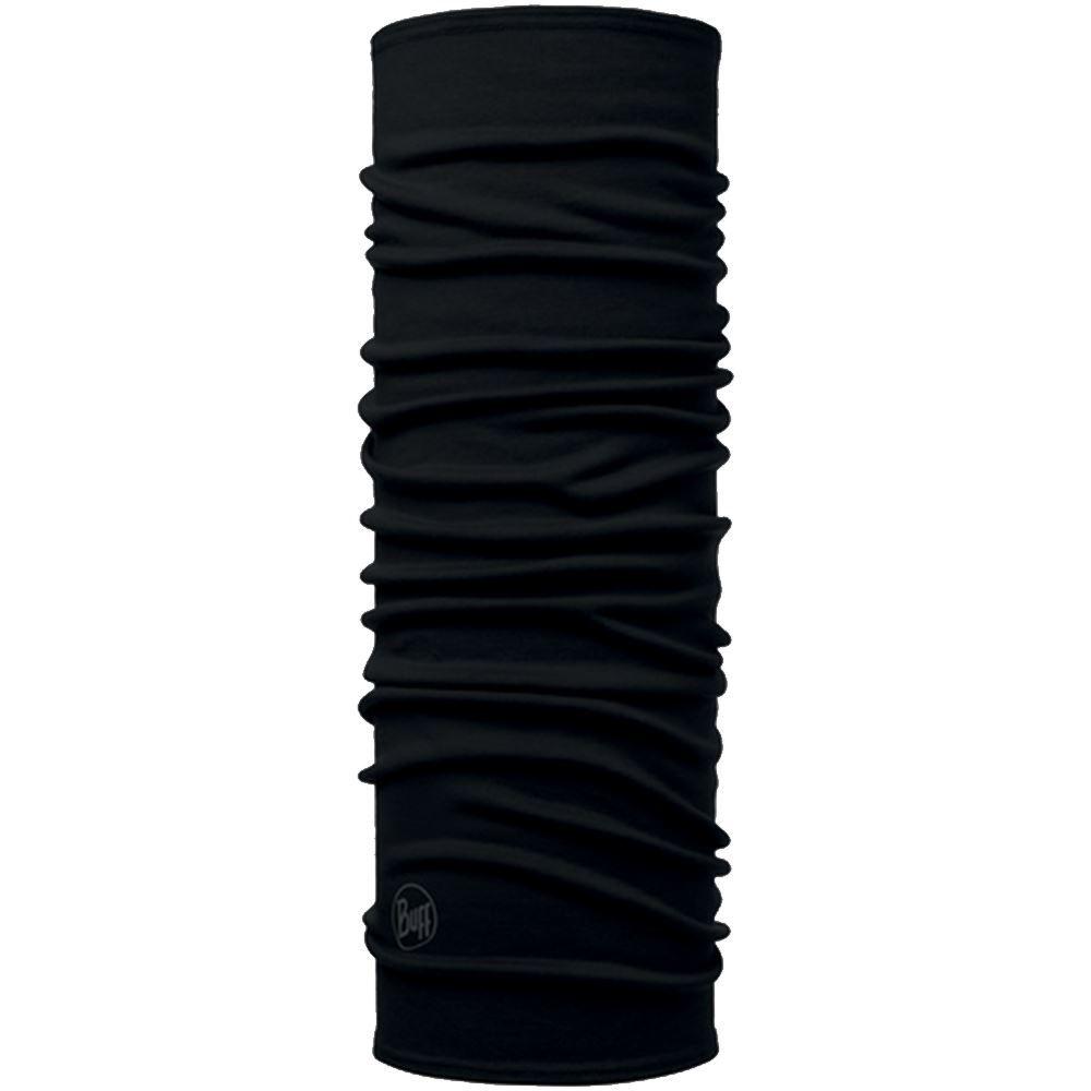 Buff Merino Wool Headwear Solid Black