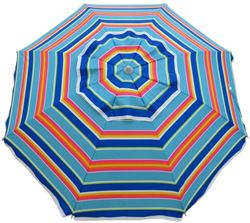 Beachkit Daytripper 210cm Beach Umbrella Royal Retro Stripe