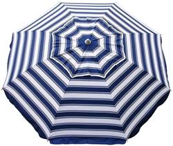 Beachkit Daytripper 210cm Beach Umbrella Navy White