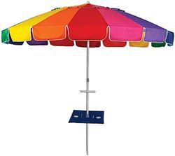 Beachkit Rainbow 240cm Beach Umbrella With Sunraker Table