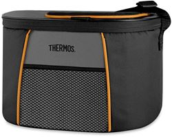 Thermos 6 Can Element E5 Cooler Grey Orange