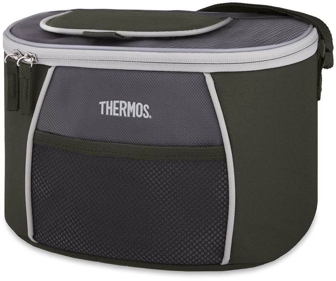 Thermos 6 Can Element E5 Cooler Grey Green