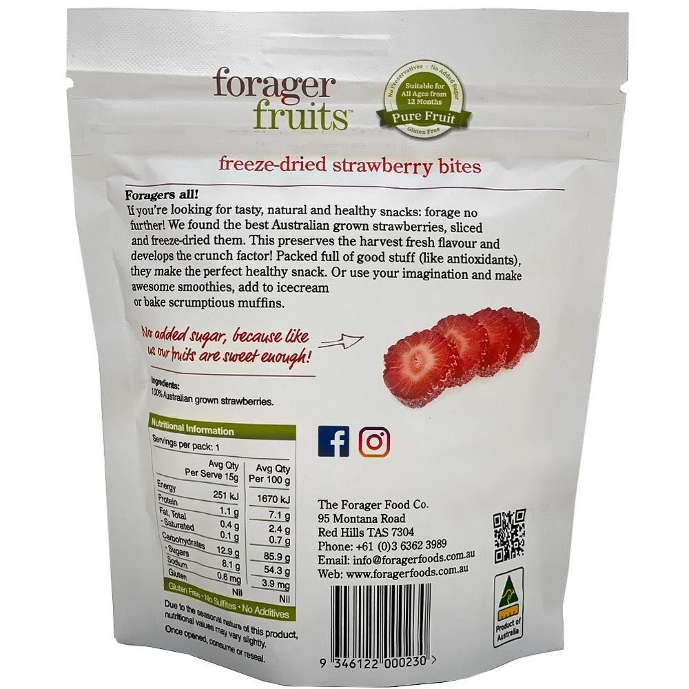 Forager Fruits Strawberry - Nutritional Information