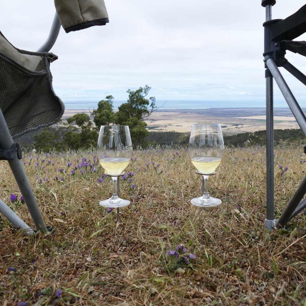 Scorpro Explorer Box with 2 RIEDEL Ouverture Magnum Wine Glasses