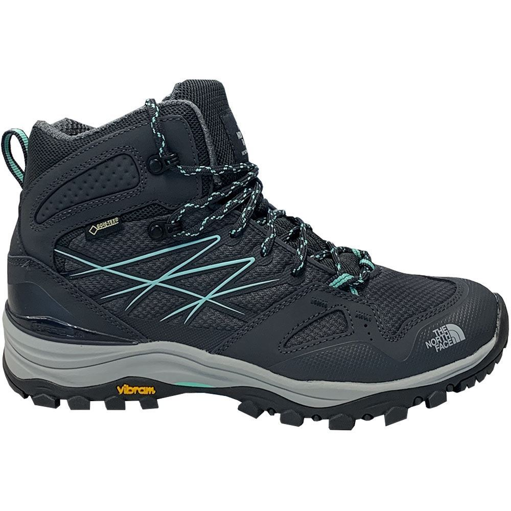 The North Face Hedgehog Fastpack Mid GTX Wmn's Boot Ebony Grey Ice Green - Side view