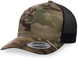 Flexfit Retro Trucker Snapback Cap Multicam