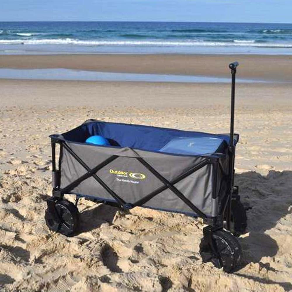 Outdoor Connection The Off Road Hauler - on beach with handle extended