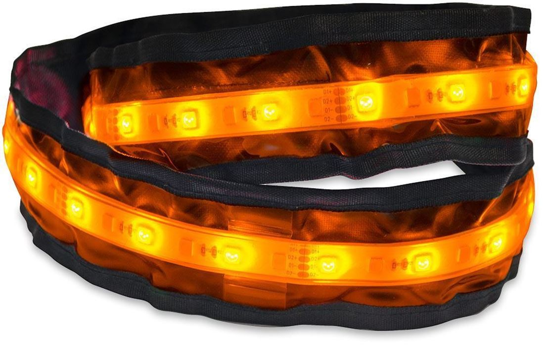 Outdoor Connection Amber LED Power Strip 1200 Orange Mode