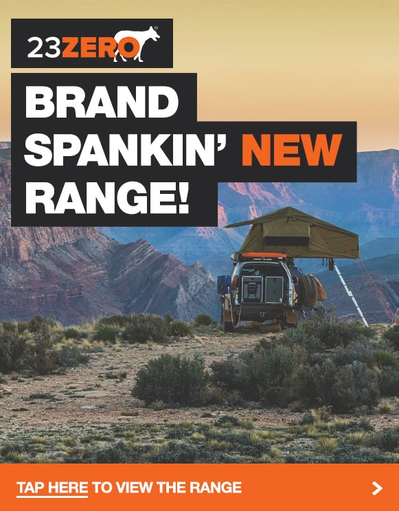 Brand spankin' new swags & rooftop tents from 23Zero!