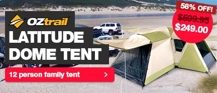 Lowest prices in Australia on the Oztrail 12 person Latitude Dome Tent