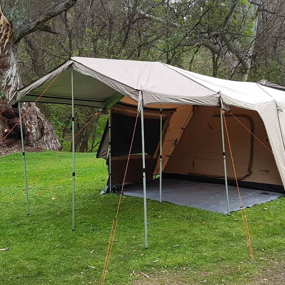 Black Wolf Turbo Extenda Awning - Side view attached to Turbo tent