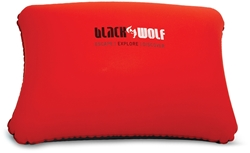 Black Wolf Comfort Pillow Standard True Red