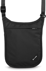 Pacsafe Coversafe V75 RFID Neck Pouch - Black