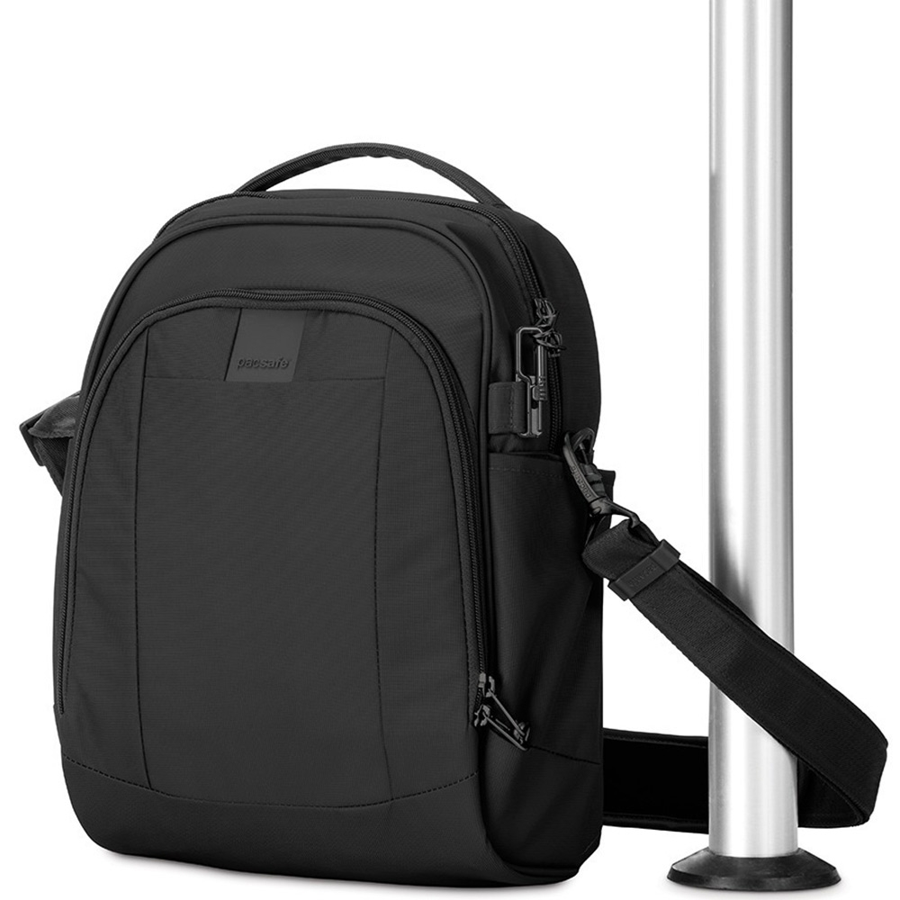 Pacsafe Metrosafe LS250 Shoulder Bag - Strap around a pole