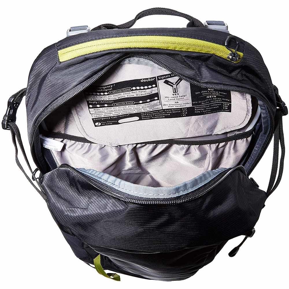 Deuter Trail 26 Backpack Black Graphite - Inside main compartment