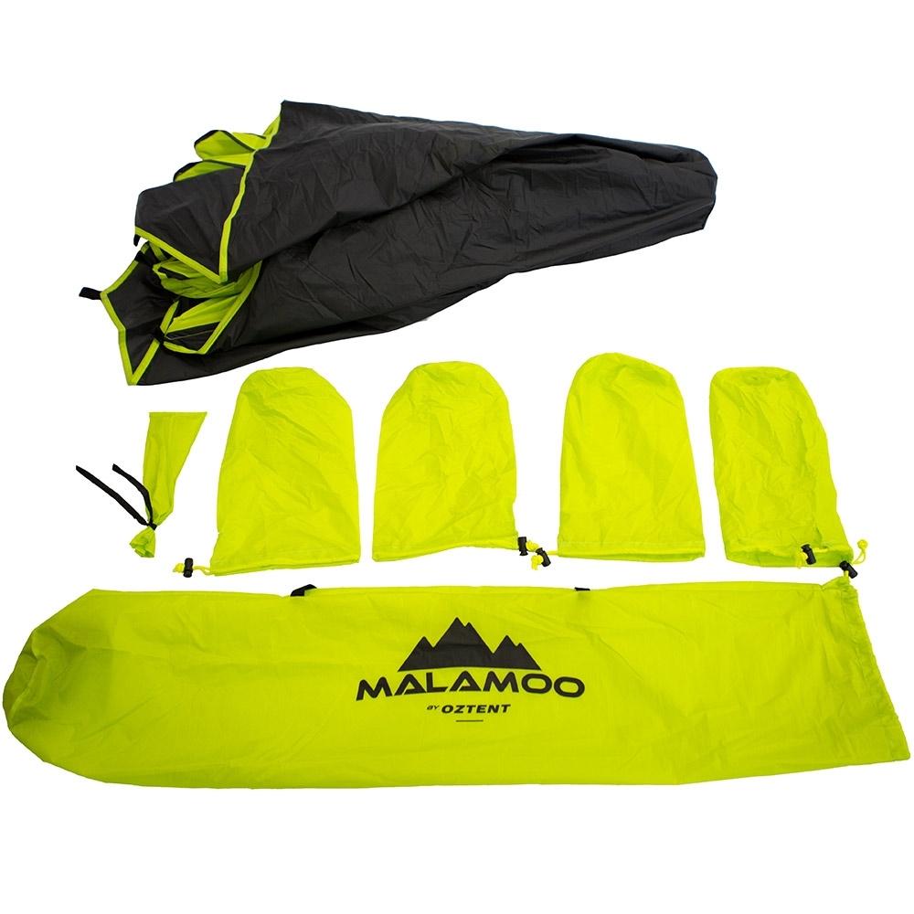 Oztent Malamoo 2-Hub Beach Shelter Inclusions