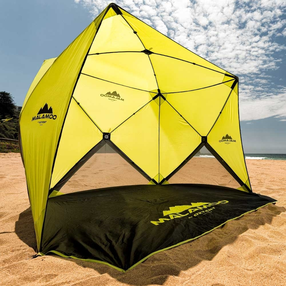 Oztent Malamoo 4-Hub Beach Shelter On Beach