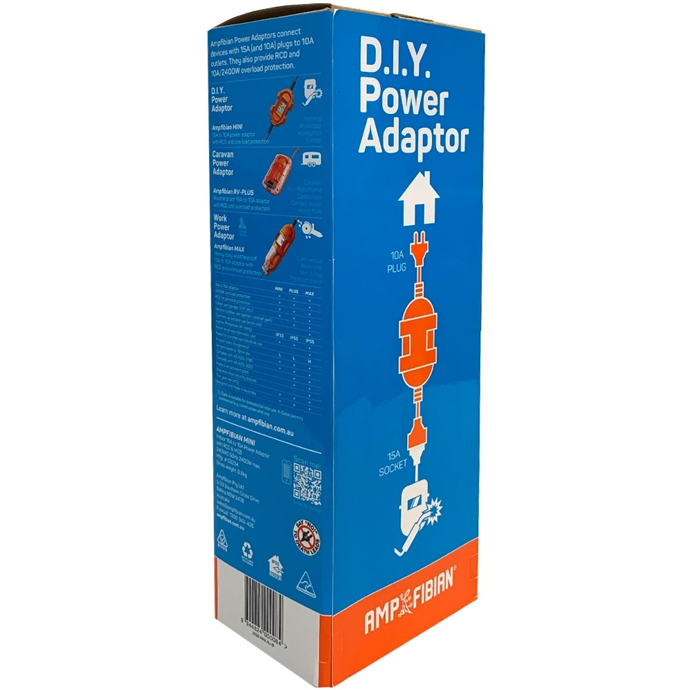 Ampfibian Mini 15A-10A Power Adapter - Packaging