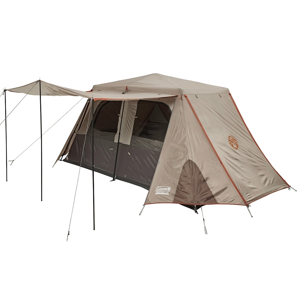 Coleman Instant Up Silver 8P Side Entry Tent - Side Doors