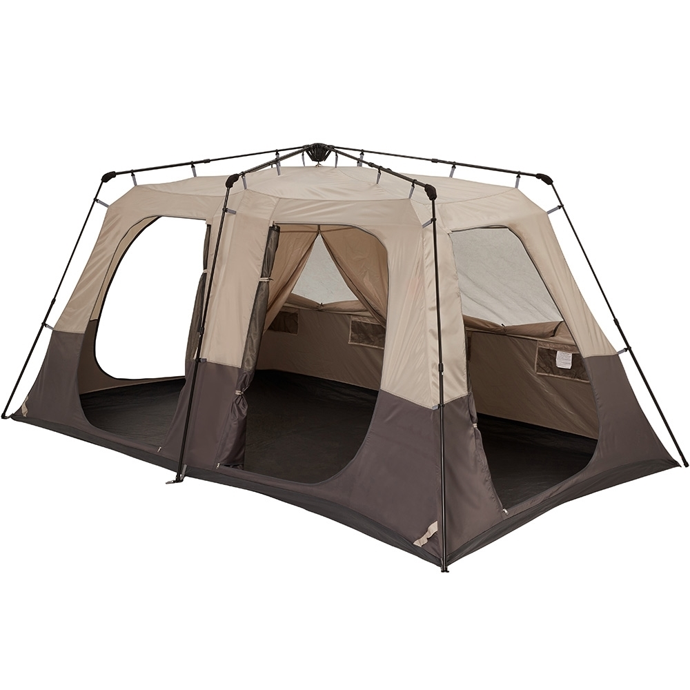 Coleman Instant Up Silver 8P Side Entry Tent - Fully Open