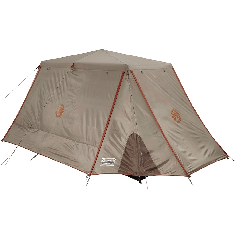 Coleman Instant Up Silver 8P Side Entry Tent - Fully Zipped
