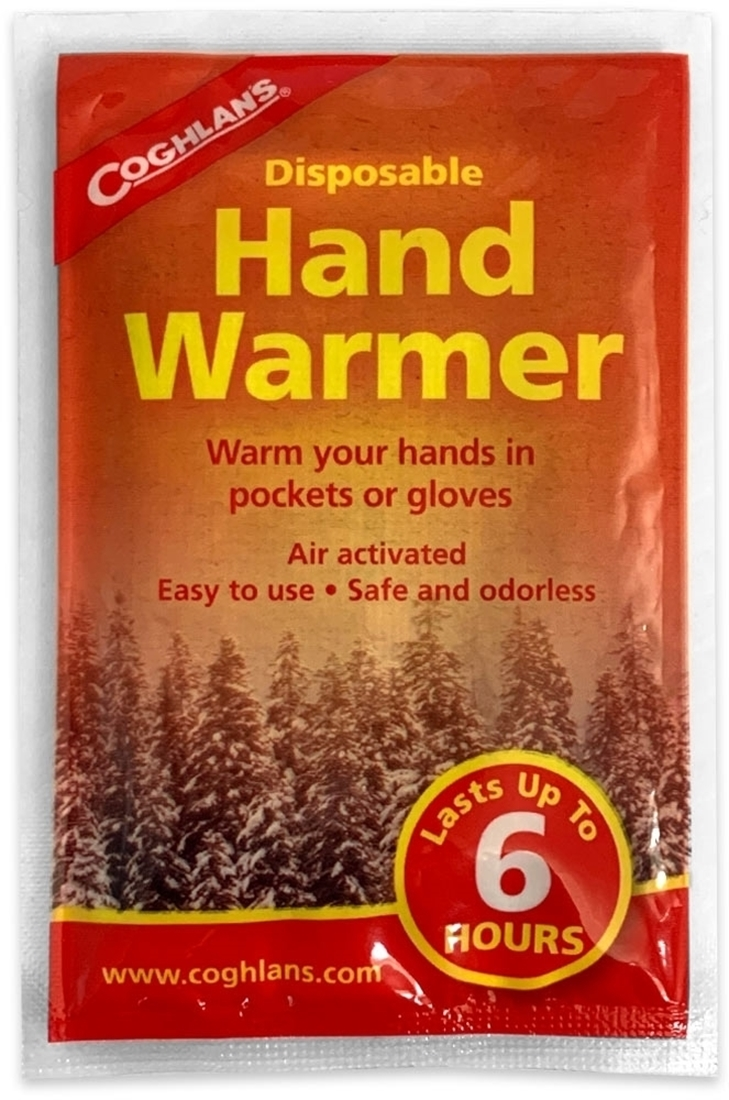 Coghlans Disposable Hand Warmers - Front of packaging