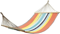 OZtrail Double Hammock with Timber Rails - Orange