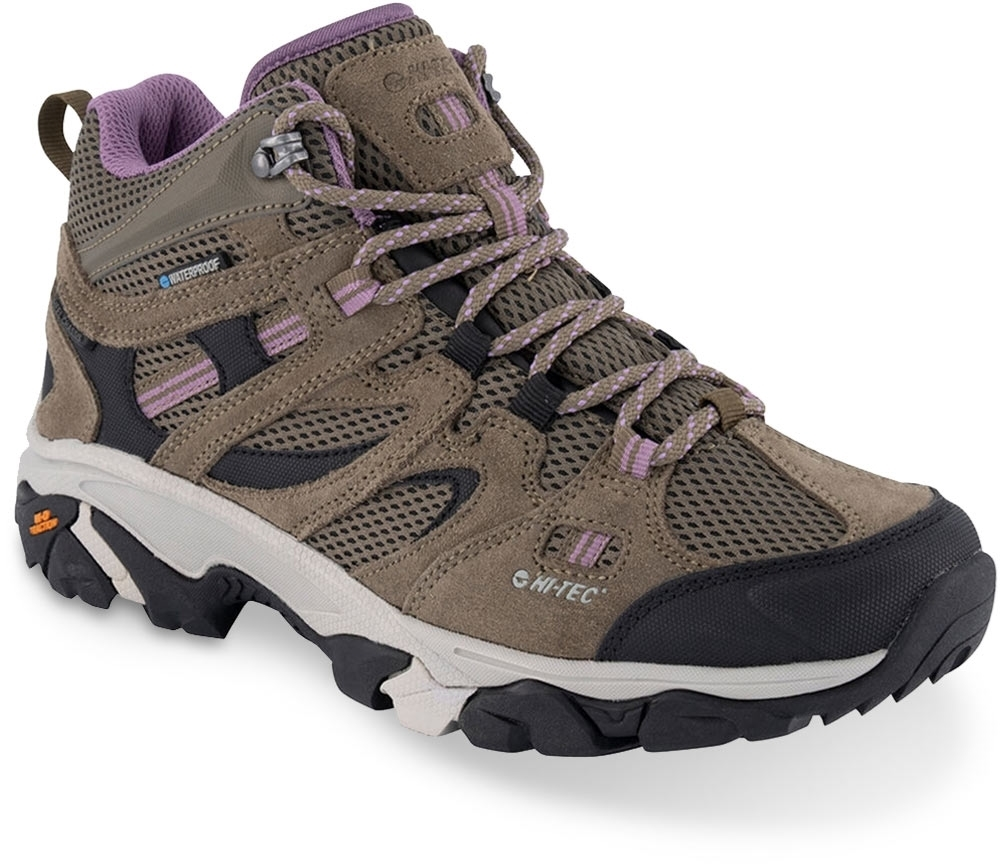 Hi-Tec Ravus Vent Mid WP Wmn's Boot Smokey Brown Taupe Very Grape