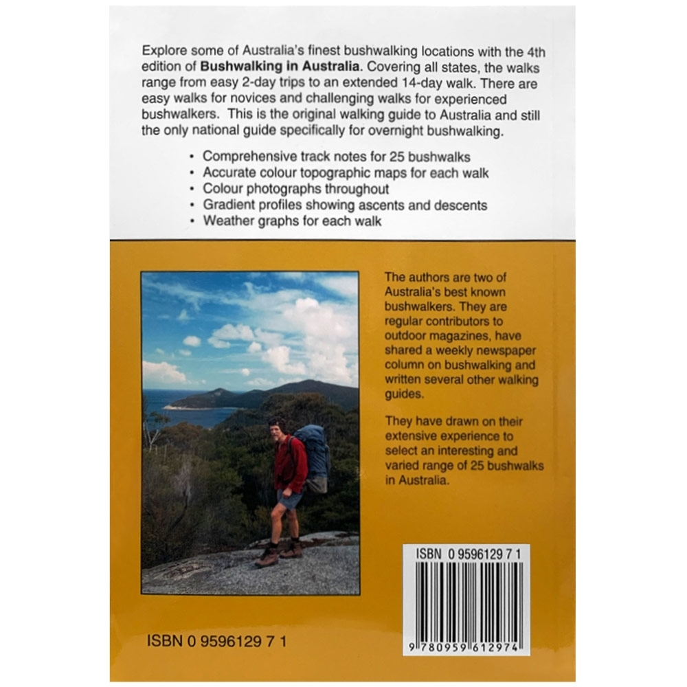 John Chapman Bushwalking in Australia Book - Back cover
