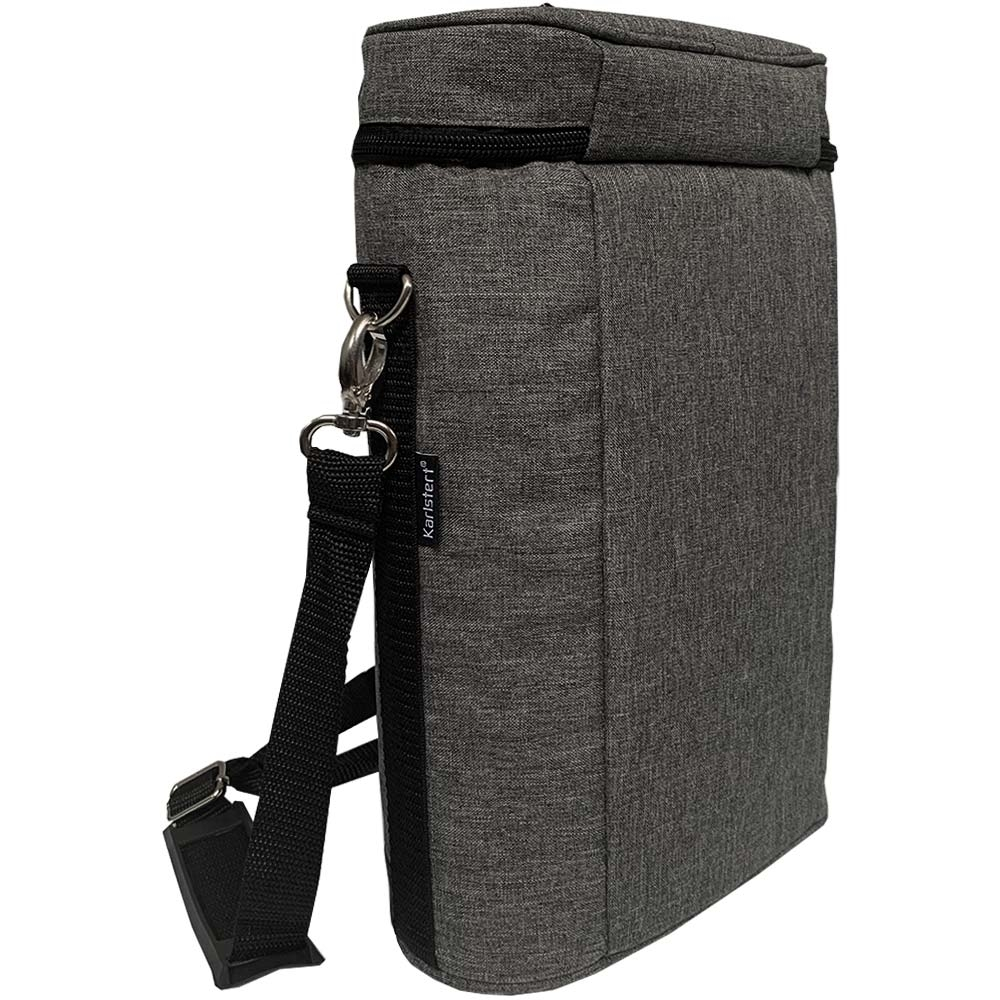 Karlstert Premium 2 Bottle Carrier - Side/back view