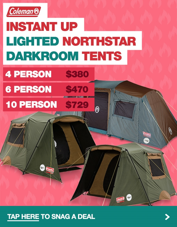 Red hot prices on Coleman Instant Up Lighted Northstar Darkroom Tents