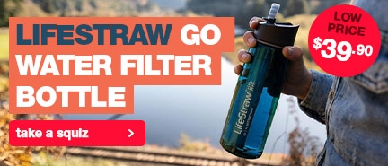 Most popular water filter in our range, the Lifestraw Go Water Filter Bottle