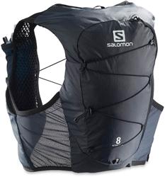 Salomon Active Skin 8 Set Hydration Pack Ebony Black