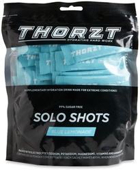 Thorzt Solo Hydration Shots 50 Pk Blue Lemonade - Front of packaging