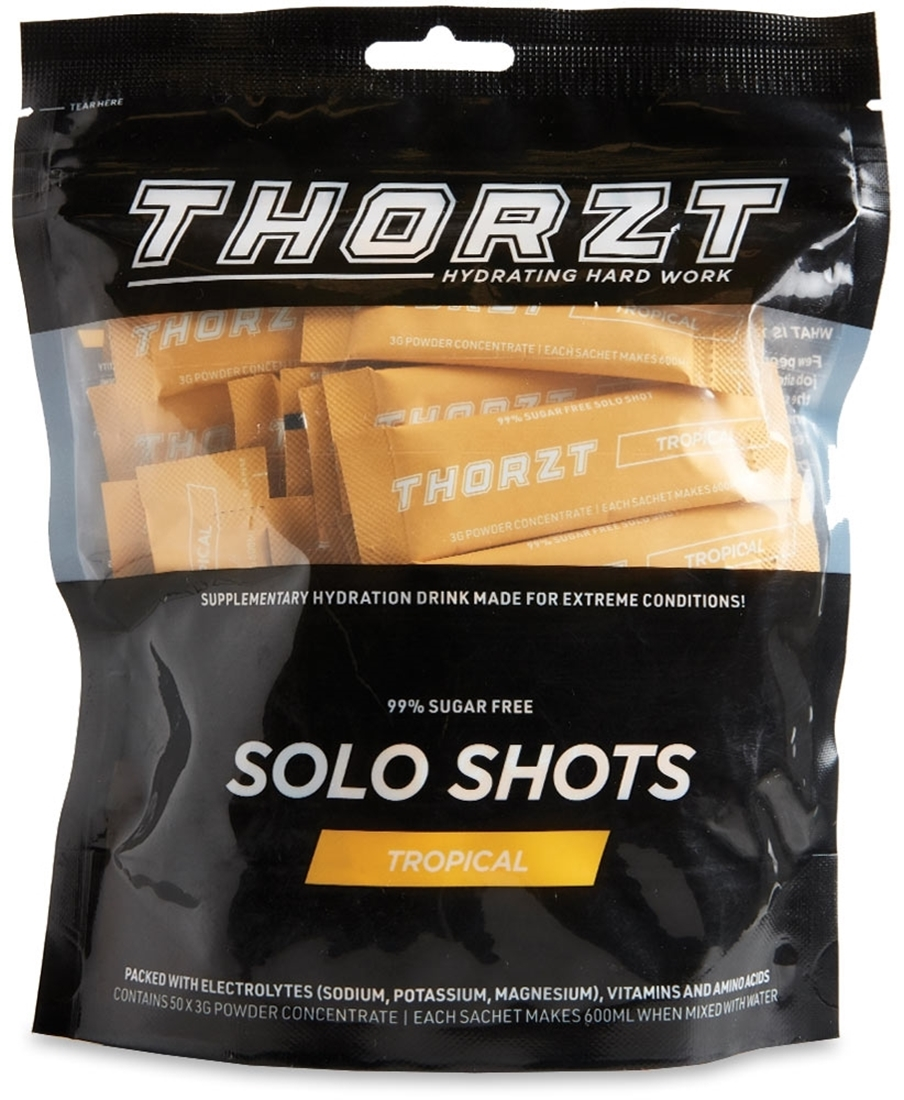 Thorzt Solo Shots 50 Pk Tropical - Front of packaging