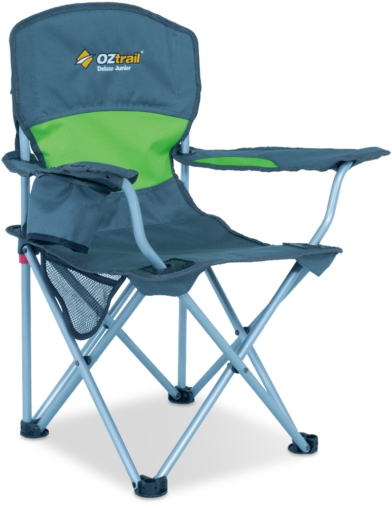 Oztrail Junior Deluxe Arm Chair Green