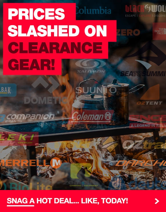 Crazy clearance prices on a ripping range of gear