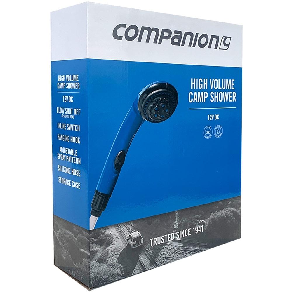 Companion 12V High Volume Camp Shower