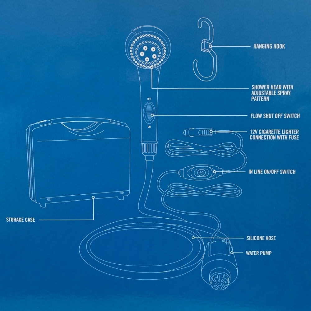 Companion 12V High Volume Camp Shower