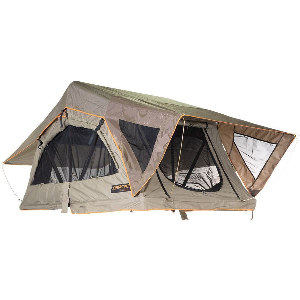 Darche Intrepidor 1400 Rooftop Tent - Window shade drawn back & ladder removed