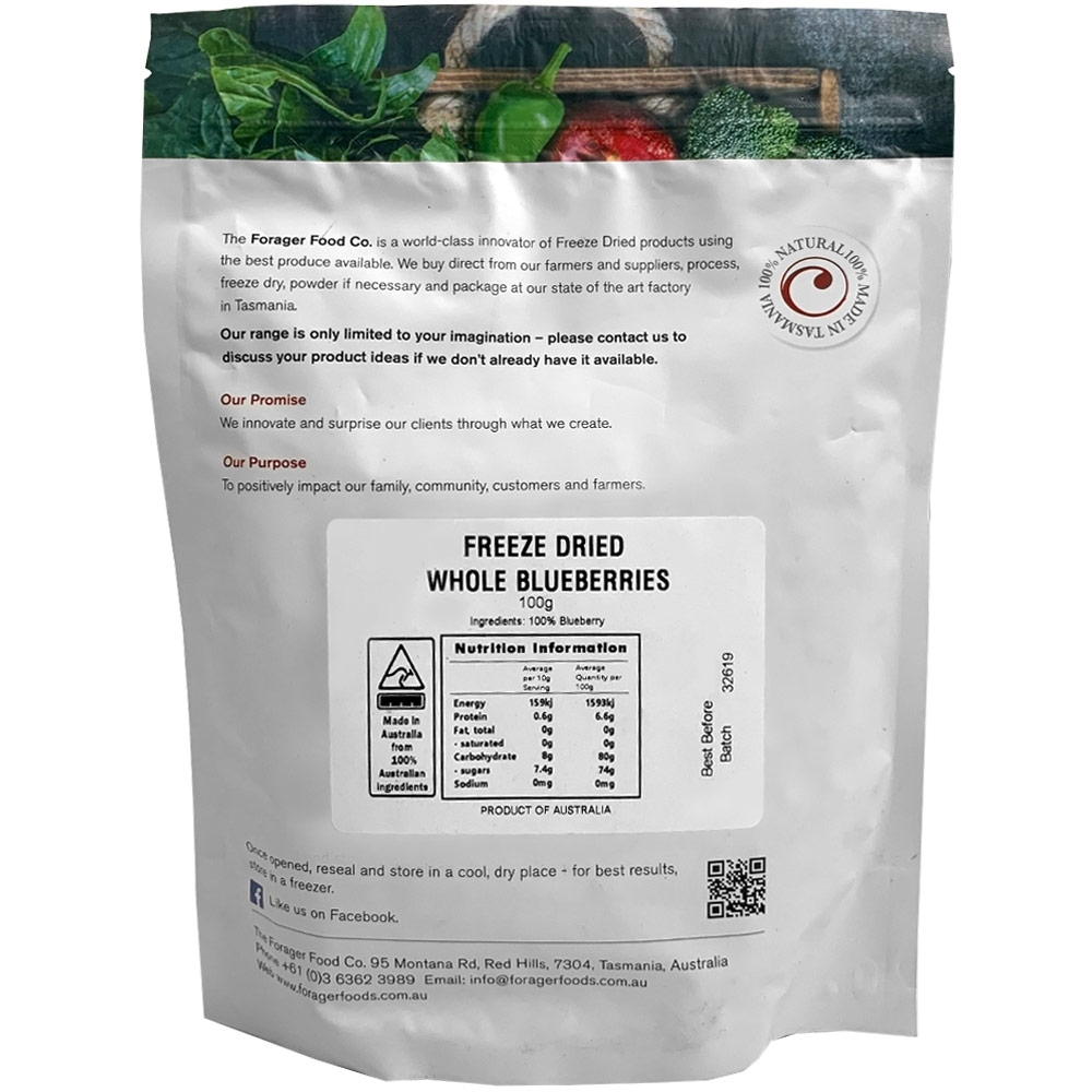 Forager Fruits Blueberries 100gm
