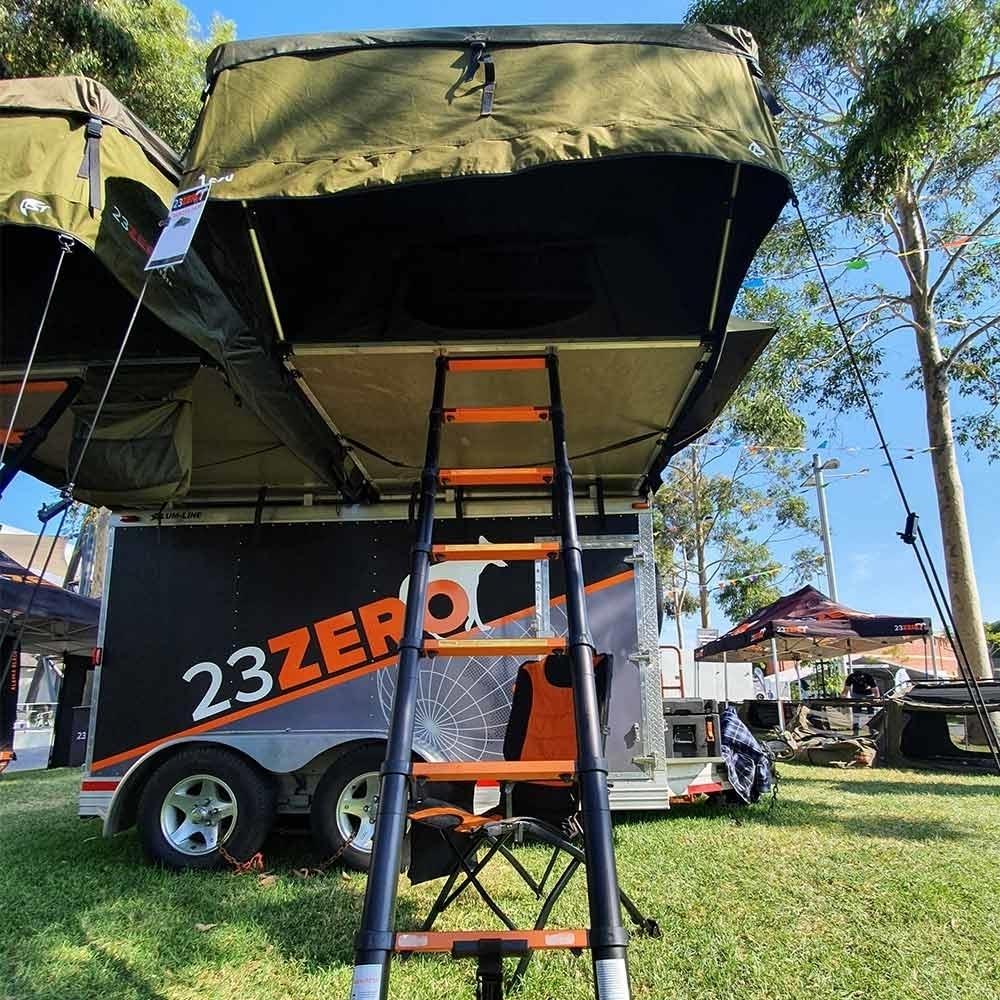23ZERO Dakota 1600 Roof top Tent with LST - Ladder view