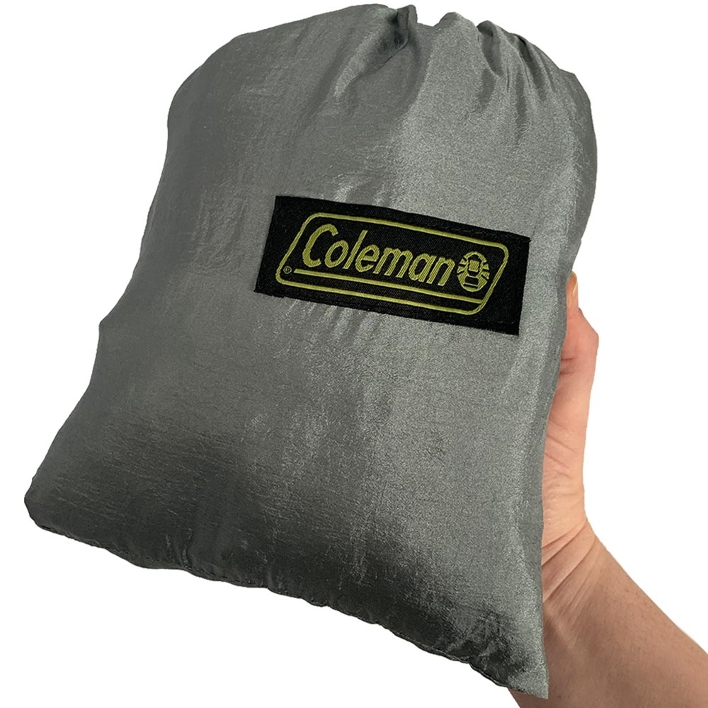 Coleman Lightweight Hammock - Person holding hammock packed into it's bag
