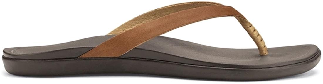 Olukai Ho'opio Leather Wmn's Thong Sahara Dark Java