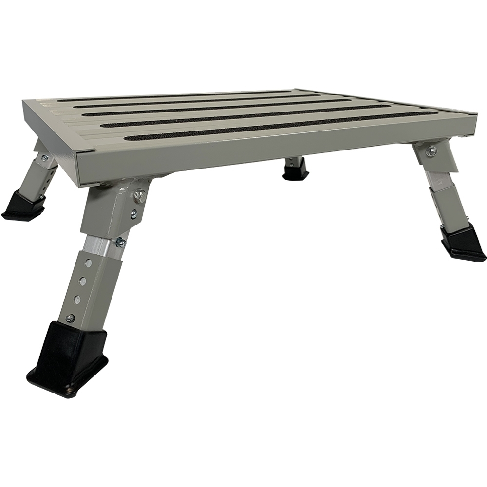 Wanderer Heavy Duty Folding Step with Adjustable Legs - Legs fully lowered
