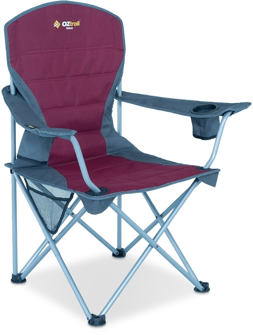 Oztrail Deluxe Arm Chair Red